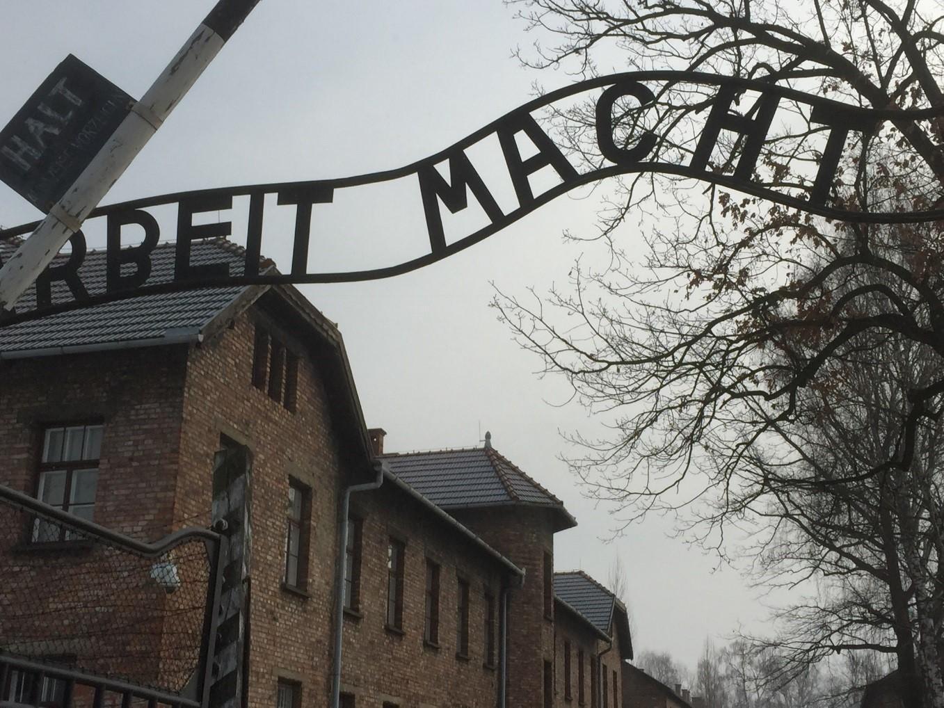 Visite d'Auschwitz avec les élèves et leurs professeurs