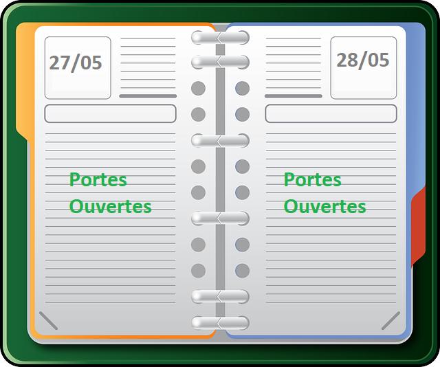 A vos agendas : « Portes Ouvertes » les 27 & 28 mai 2021 (Si la situation le permet)